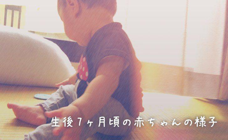 生後7ヶ月頃の赤ちゃんの様子